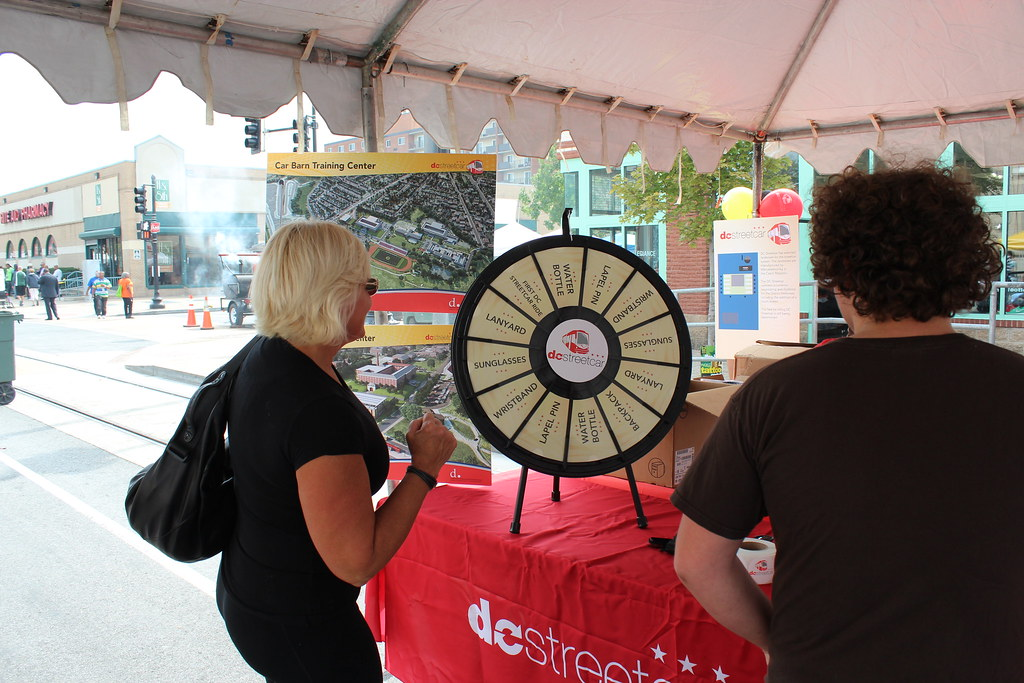 Attendees waiting for their chance at the wheel!