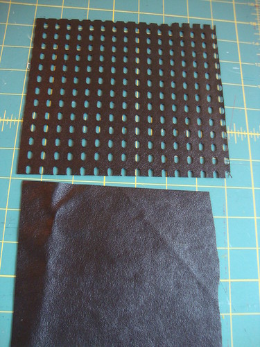 the fabric, right sides up, both from Metro Textiles