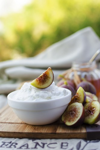 Breakfast: low fat goat cheese, figs and honey