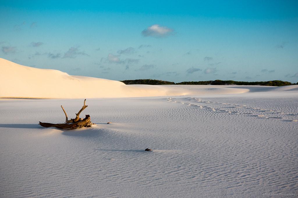 真っ白なレンソイス•マラニャンセス国立公園の砂丘