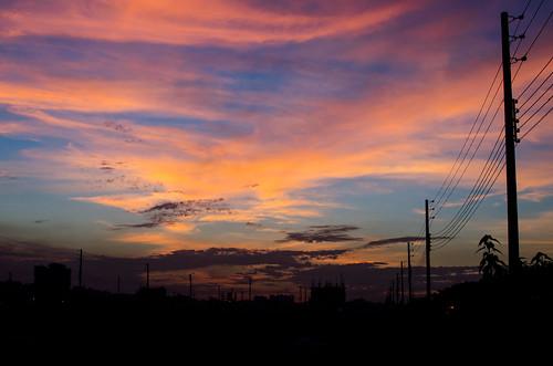 sunset dusk dhaka bangladesh dhakadivision aftabnagar sheikhshahriarahmed