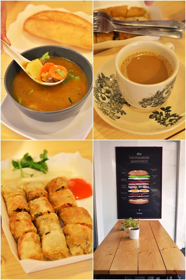 Beef Stew, Vietnamese Coffee & Spring Rolls