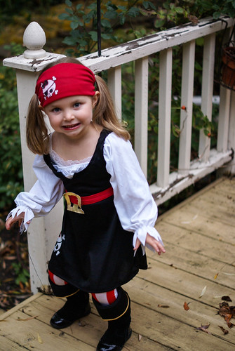 Lilah the pirate, Halloween, 2013