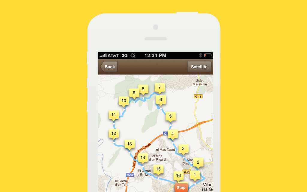Kinetic GPS for iPhone