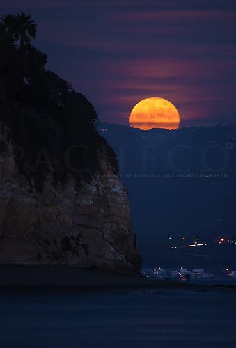 Frost Moon over Malibu, Malibu California