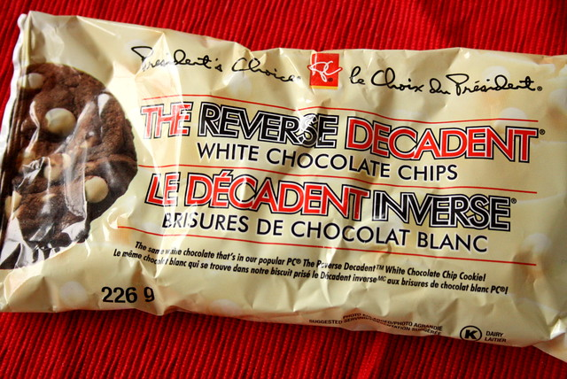 President's Choice The Reverse Decadent White Chocolate Chips