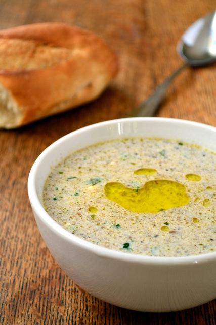 Creamy Mushroom Soup - frugal feeding
