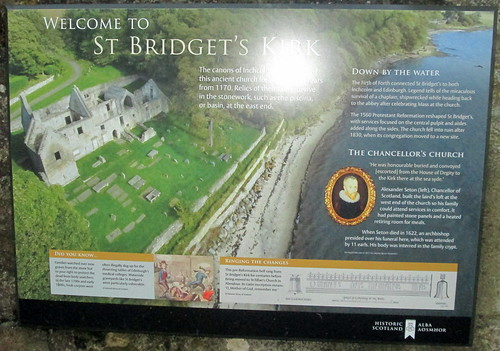 St Bridget's Kirk info sign