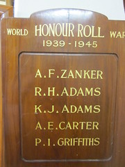 Wild Horse Plains World War Two Honour Roll.