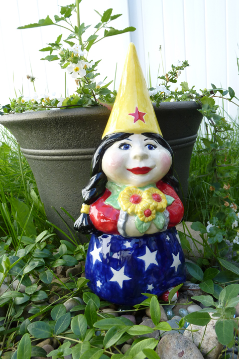 Female Gnome: The Wonder Woman Garden Gnome