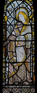 Atcham, Shropshire, St. Eata's church, east window, St. John