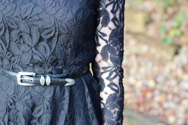 Black Lace Dress Detailing