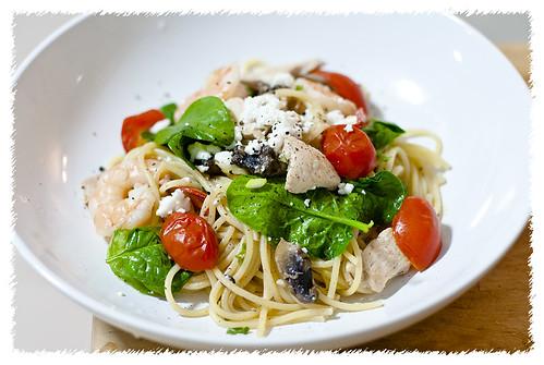 Shrimp Feta Tomato Pasta