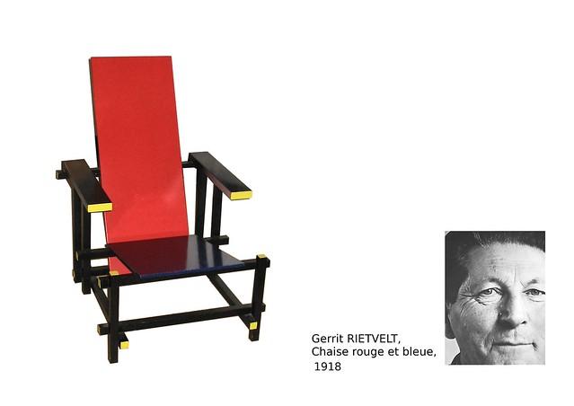 00. RIETVELT Gerrit, Chaise rouge et bleue, 1918