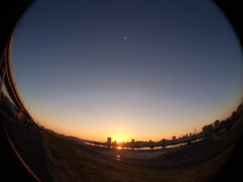 iPhone5sで撮影 初日の出 olloclip 2014年1月1日