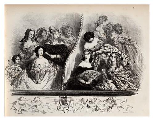 006-Pavos reales-La Ménagerie parisienne, par Gustave Doré -1854- Fuente gallica.bnf.fr-BNF