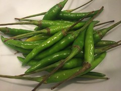 choy sum(0.0), plant(0.0), green bean(0.0), snap pea(0.0), dish(0.0), common bean(0.0), asparagus(0.0), plant stem(0.0), vegetable(1.0), serrano pepper(1.0), bird's eye chili(1.0), produce(1.0), food(1.0),