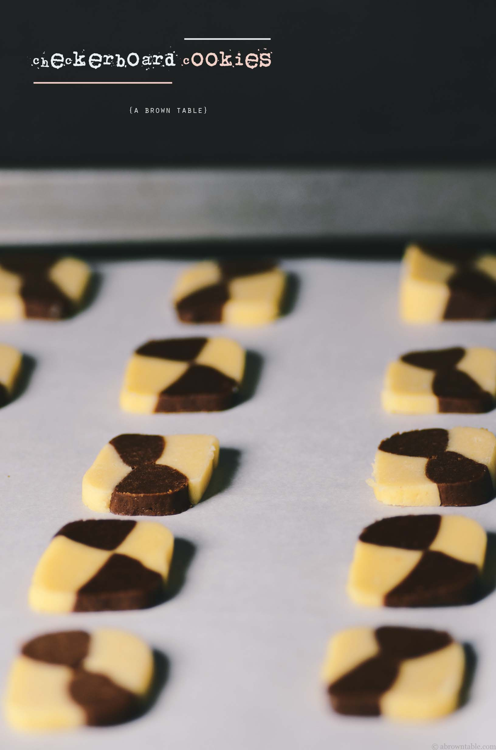 checkerboard cookie dough prebake