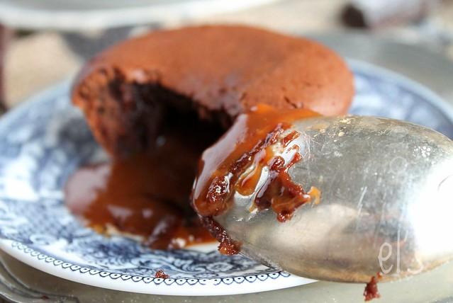 Moelleux au chocolat coeur caramel