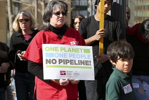 Oakland, CA RN Katy Roemer at KXL protest in February