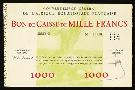 French West Africa 1000 Francs