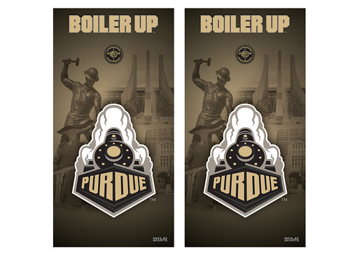 Purdue Cornhole Game Decal Set