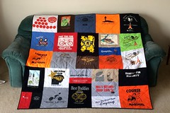Cycling T-Shirt Quilt Front