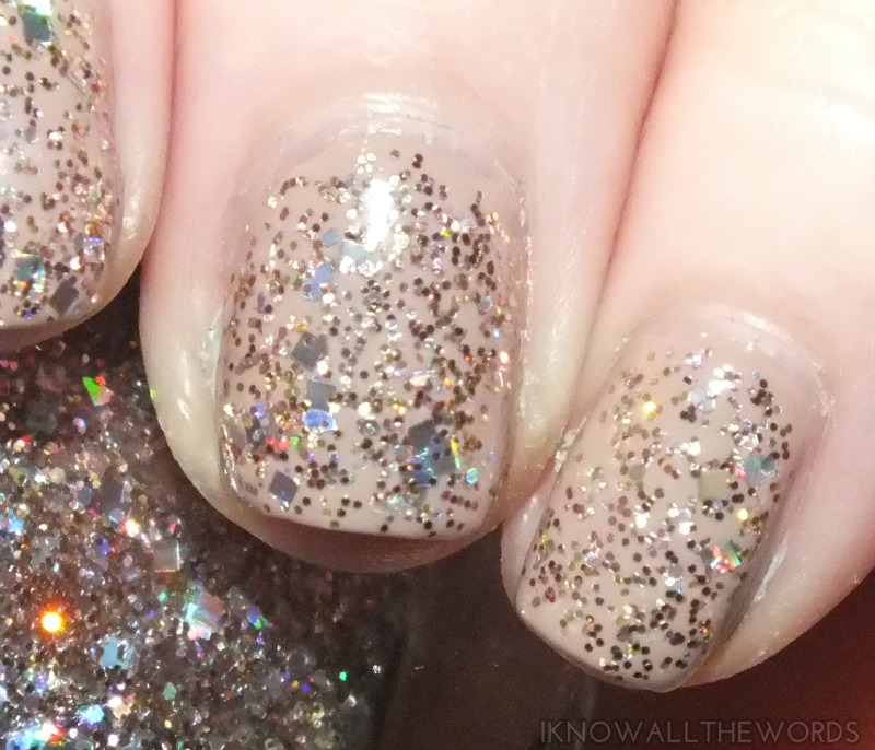 OPI Spotlight on Glitter- Rose of Light (3)