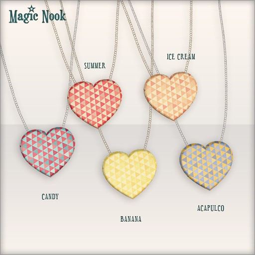 [MAGIC NOOK] Aztec Heart Necklace MESH - Heart textures