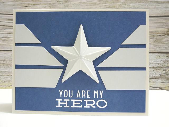 My Hero Captain America Card