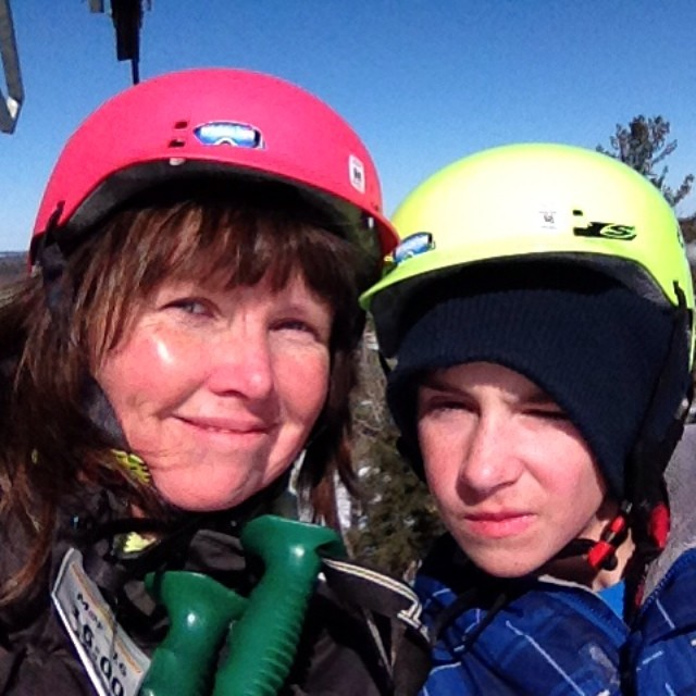 Me and my ski buddy on the chair lift#mo365