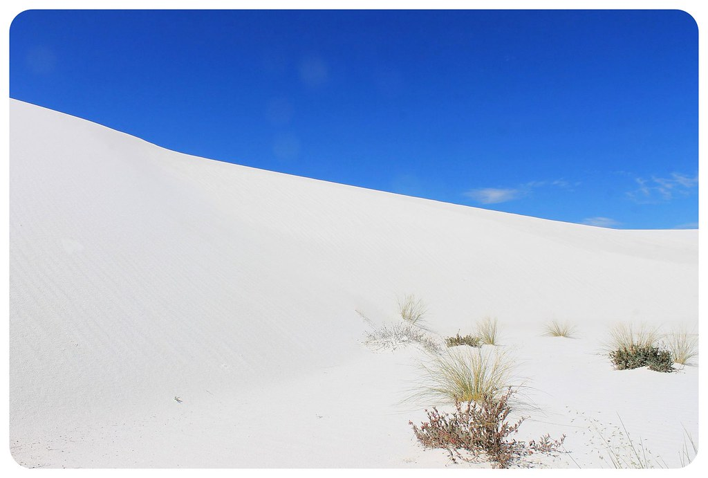 White Sands New Mexico sand dunes