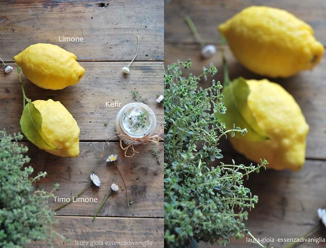 Limoni e timo limone con kefir
