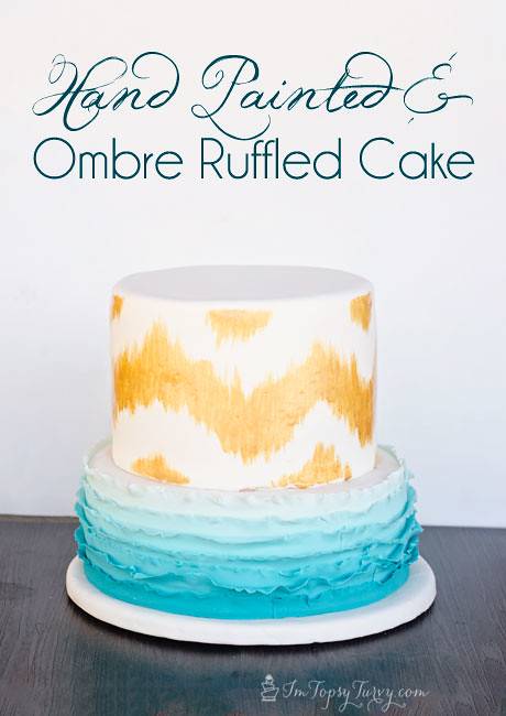hand-painted-ombre-ruffle-birthday-cake