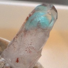 Small but very blue piece of Ajoite. Got u kyl #focused