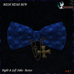[NEW ON SALE!] *P* Pam Head Bow ~Blue~