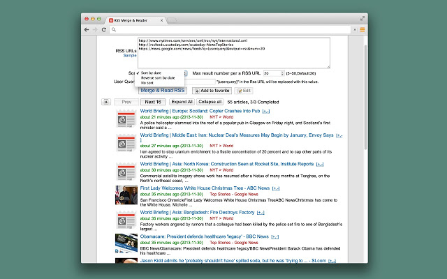 RSS Merge and Reader