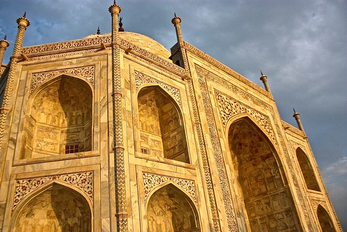 The Taj lights up