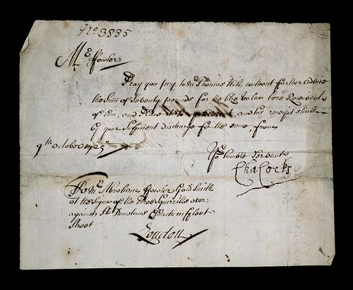 1725 Goldsmith cheque