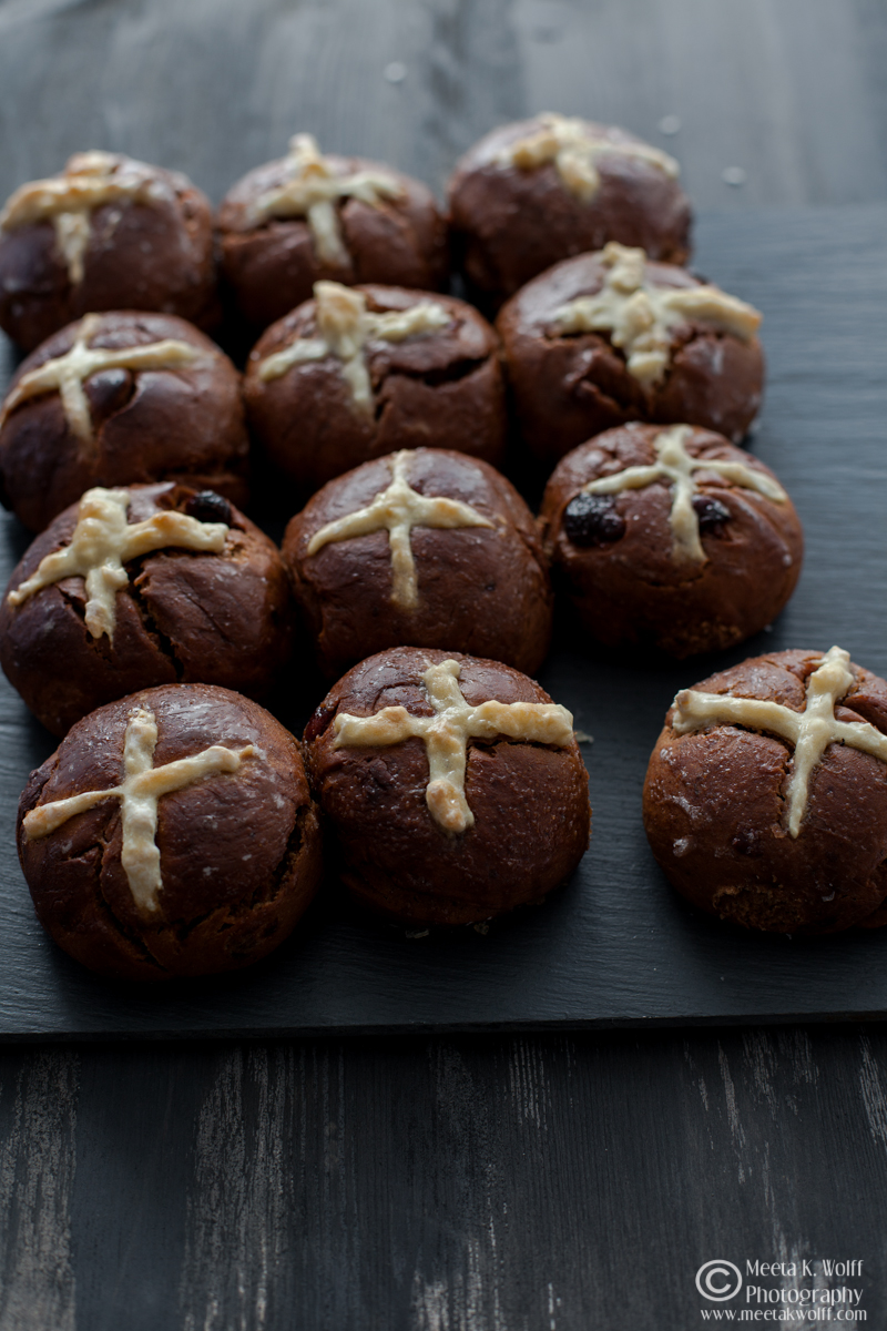 Chocolate Prune Cherry Hot Corss Buns (0003)
