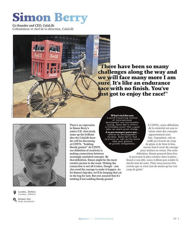 C2MTL Magazine Feature | Simon Berry