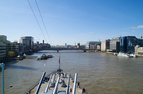 View from the top of HMS Belfast