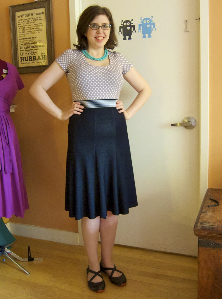 Me Made May 24: Quick Faux-Denim Skirt