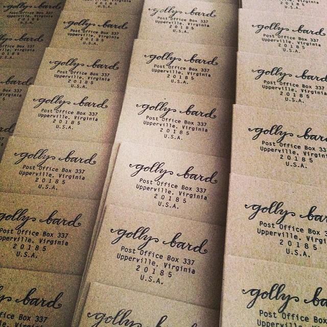 Stamping envelopes
