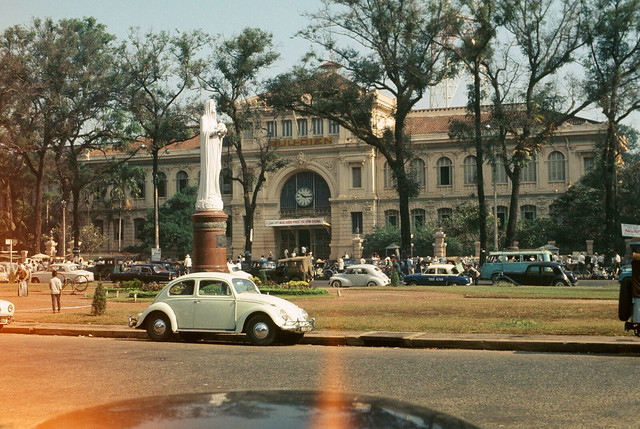 The Saigon Central Post Office, Saigon, Vietnam 1968
