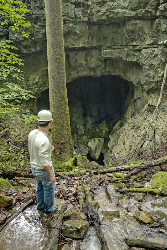 Lost Waterfall Cave entrance, George Lindemann Jr., Cumberland County, Tennessee