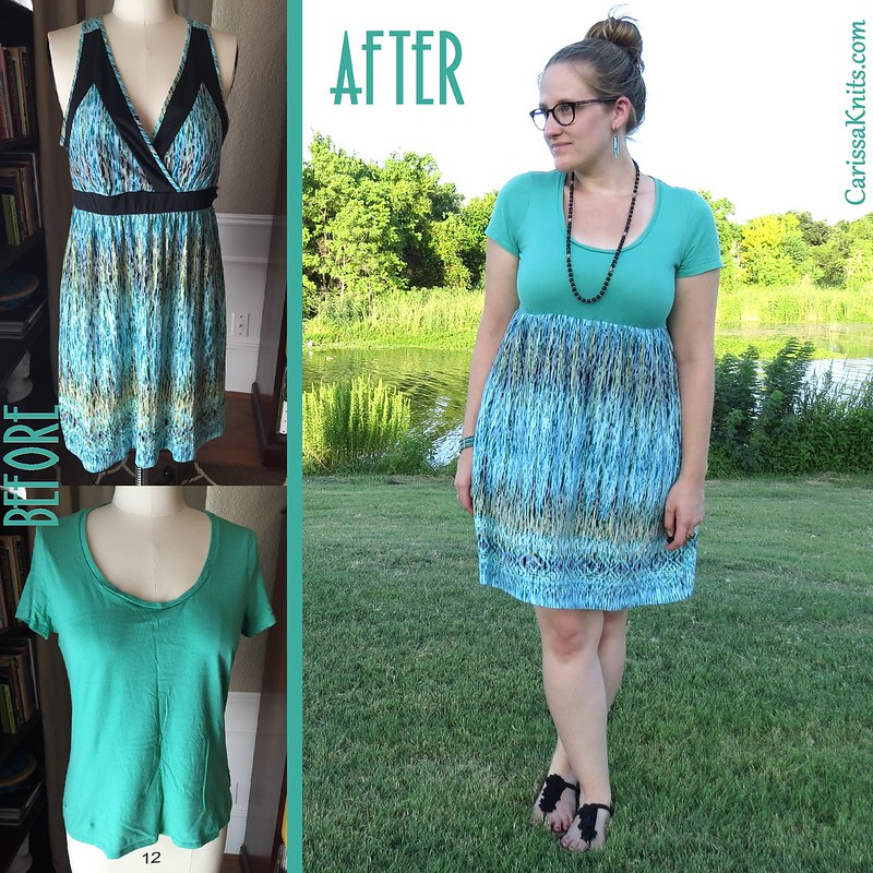 Teal and Mint Summer Dress - Before & After