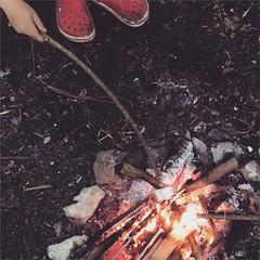 Obligatory marshmallow shot #camping