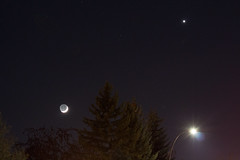 Earth Shine Moon and Venus