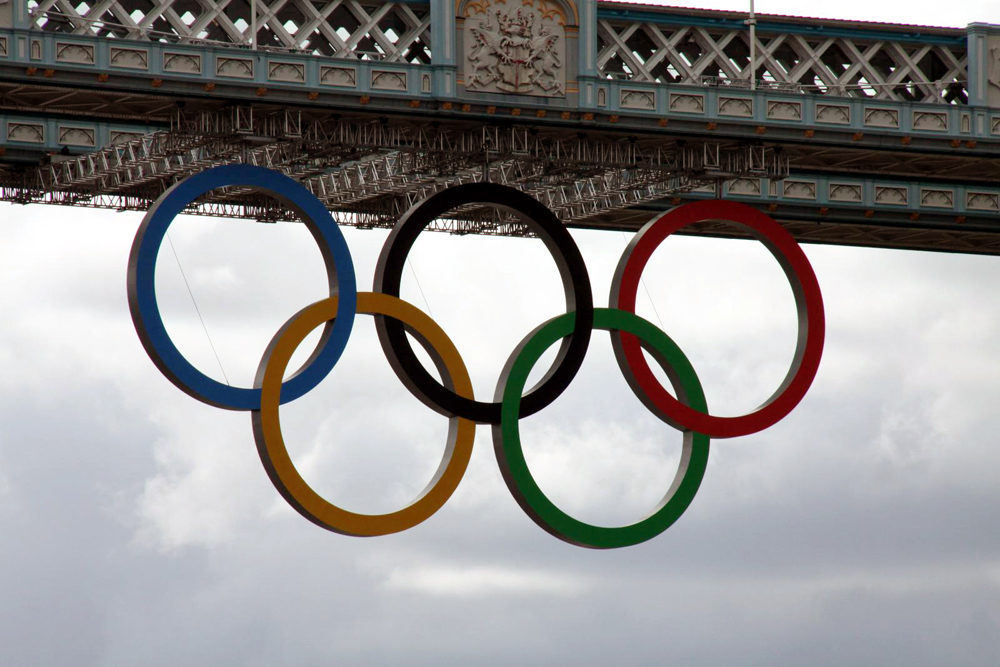 Longon Olympic Rings - Tower Bridge